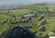 A tricky northwest approach into Talgarth, oil, 24 x 16 ins
