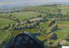 A tricky northwest approach into Talgarth, oil, 24 x 16 ins